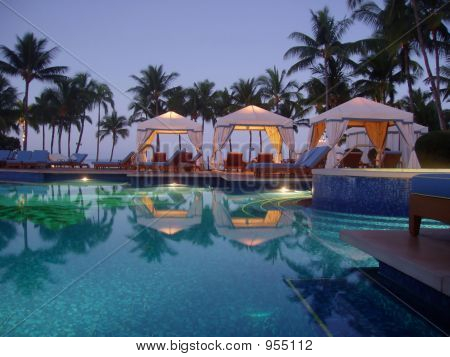 Poolside At Dawn