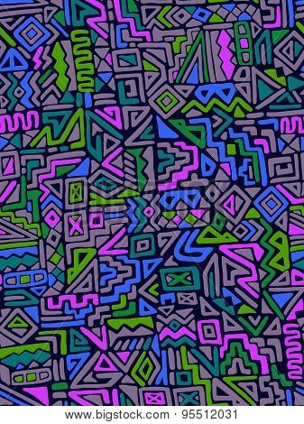 vector ethnic geometric abstract pattern