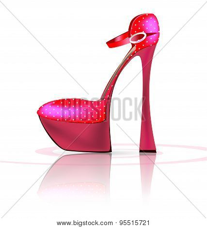 pink semi-shoe