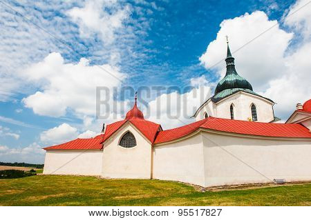 Pilgrimage church of Saint John of Nepomuk at Zelena Hora, Zdar nad Sazavou, Czech Republic is the final work of a famous baroque architect Jan Santini Aichel