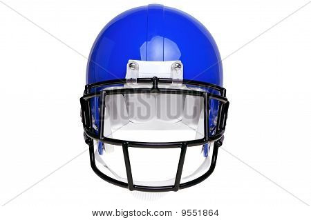 Photo Of An American Football Helmet Isolated On White