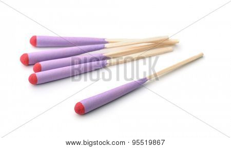 Stormproof matches isolated on white