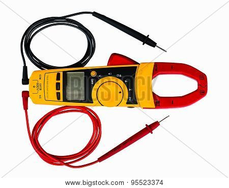 Digital Clamp Meter And Test Leads