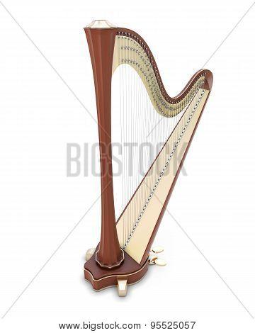 Harp 3D Illustration.