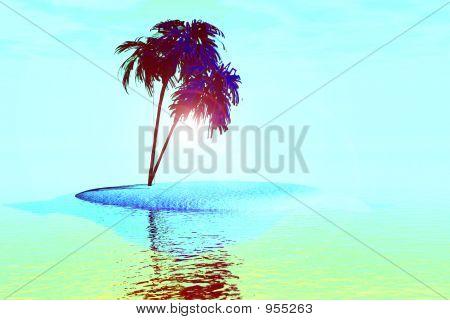 Mulit color palmeras