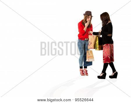 Young females at shopping moll
