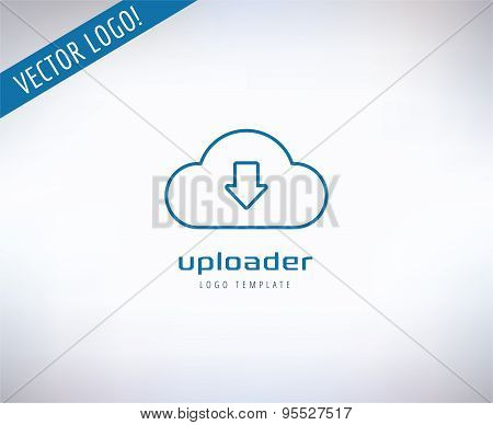 Cloud Icon Vector Logo. Store, App or Developers and Technology symbols. Stocks design element.