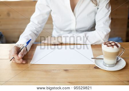 Thinking To Write On Sheet