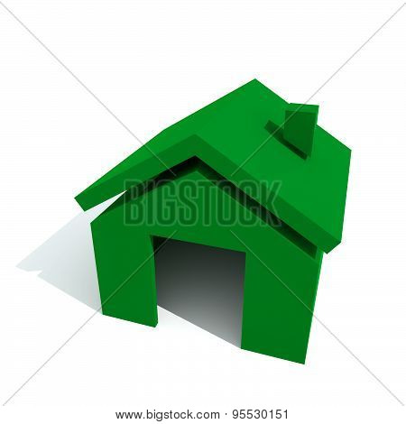 Home Green Color Top View