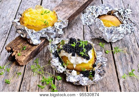 Potatoes Baked In Foil