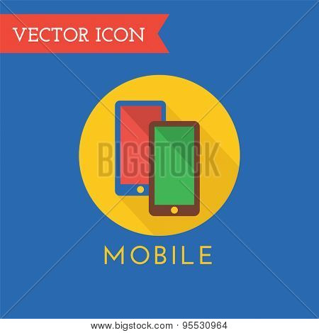 Mobile Icon Vector Logo. Shop, Money or Commerce and Computer symbol. Stock Design Element.