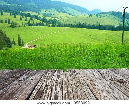 Bavarian landscape at Alps
