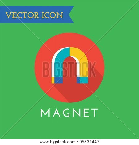 Magnet Icons Vector Icon. Technology, money or commerce and mobile symbols. Stock design element.