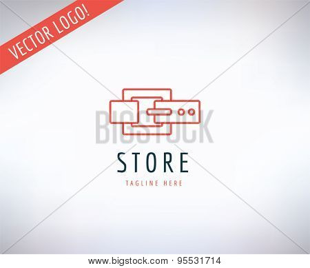 Belt vector logo icon. Style, Fashion or Shop and Dress symbol. Stocks design element