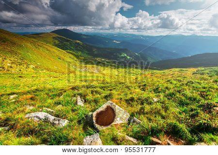 Chorna hora mountain range.  Carpathian mountains. Ukraine
