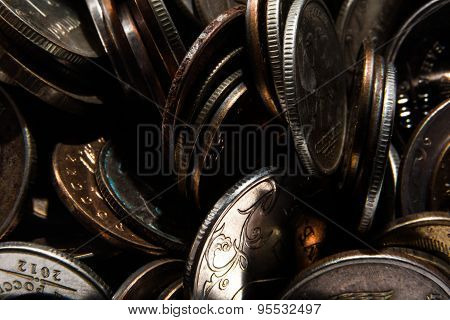 coins in disarray