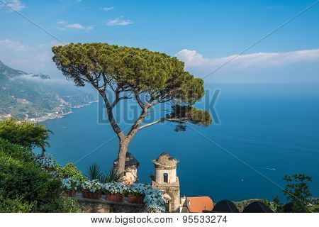 Villa Rufolo In Ravello Town, Amalfi Coast, Italy
