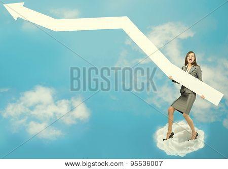 Businesswoman with arrow