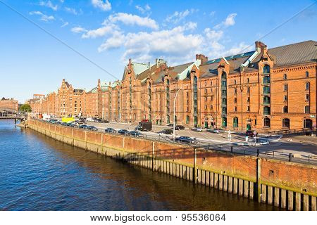 Speicherstadt Disctrict In Hamburg, Germany