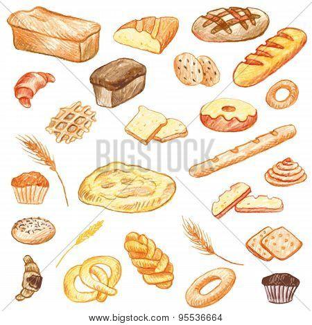bakery vector elements