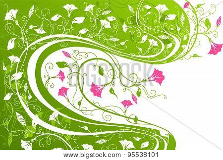 Floral Background With Place For Your Text.