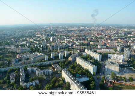 Buildings And Smoke In Wroclaw In Poland