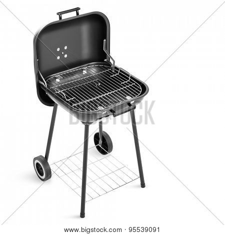 Barbecue grill isolated on white background