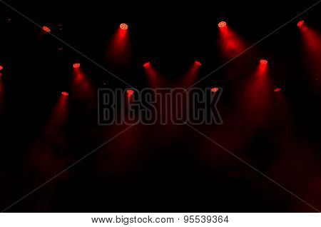 Red Stage Lights