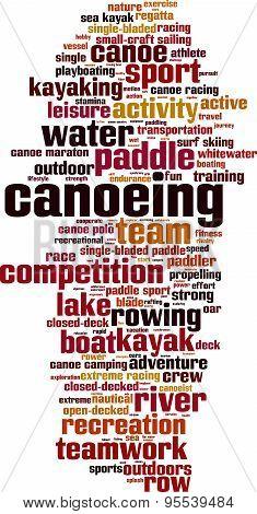 Canoeing Word Cloud