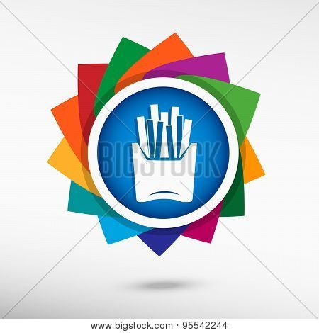 Potato Fries Color Icon, Vector Illustration