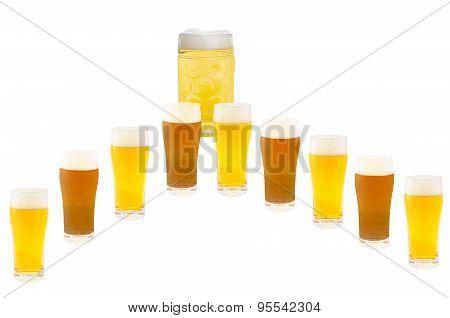 Several Beer Glasses