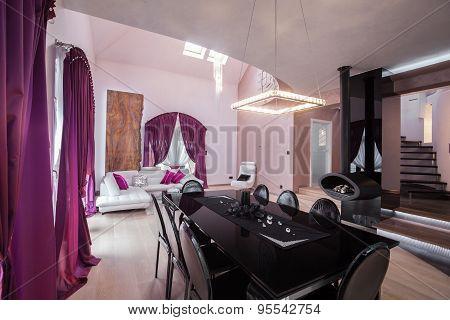 Living Room In Luxury Residence