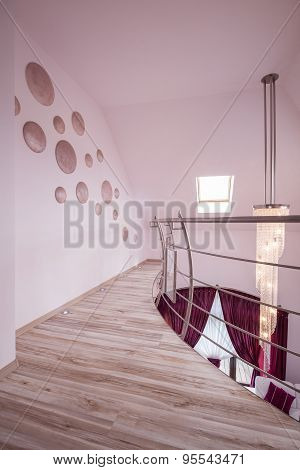 Beige Floor Panels In Hall