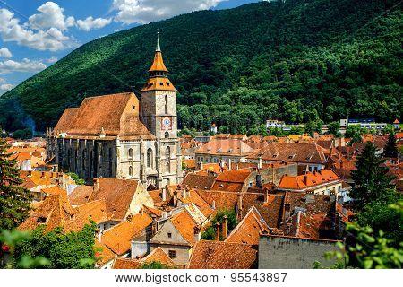 Brasov cityscape in Romania