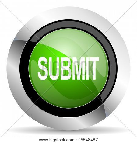 submit icon, green button