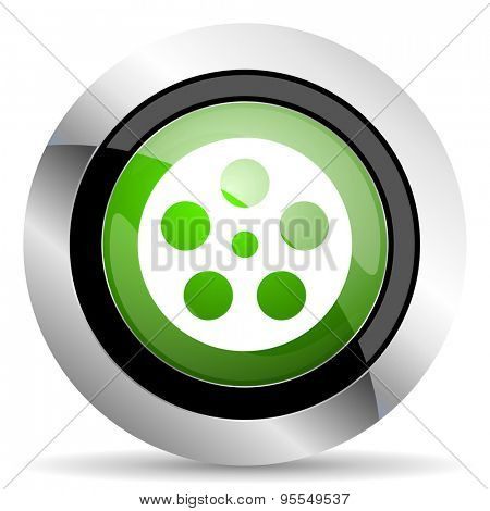 film icon, green button