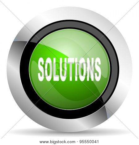 solutions icon, green button