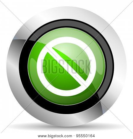 access denied icon, green button
