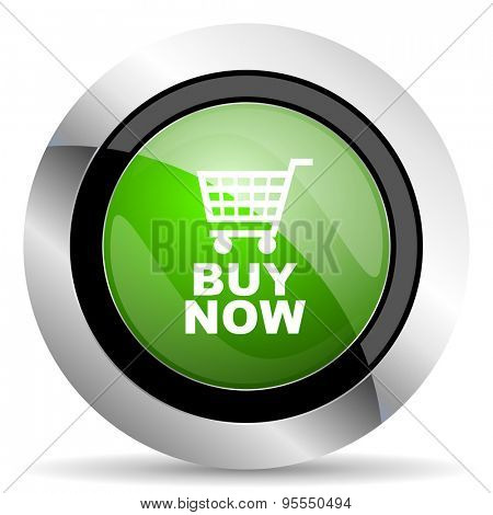 buy now icon, green button