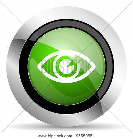eye icon, green button, view sign