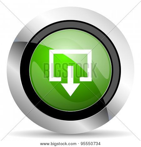 exit icon, green button