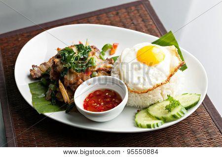 Thai Crispy Pork with Fried Egg