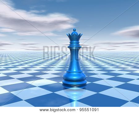 Beautiful Background With Chess Queen