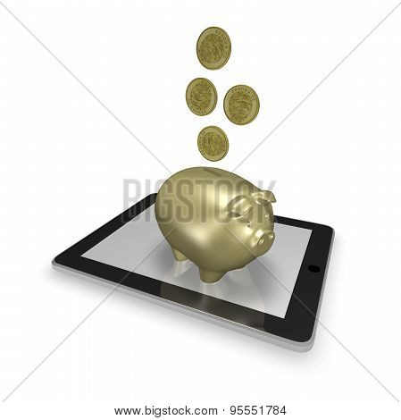 On Line Banking Concept Illustration
