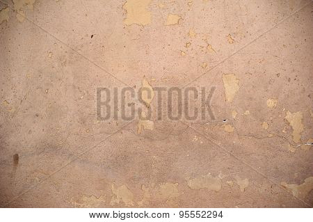 Texture Of Old Wall Covered With Brown Stucco