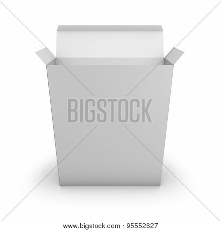 Opened Simple Packaging Software Box With Empty Copy Space Template Illustration.