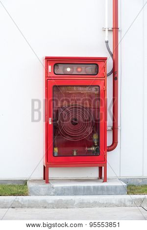 Red Color Fire Extinguisher Box