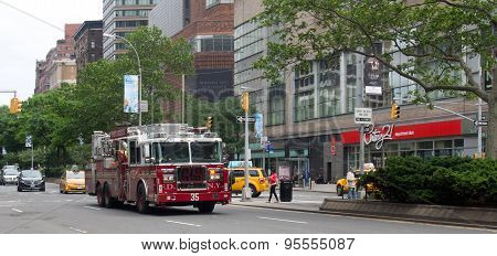 Firetruck On Broadway