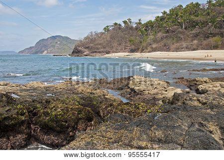 Hidden Mexican Pacific Ocean Beach