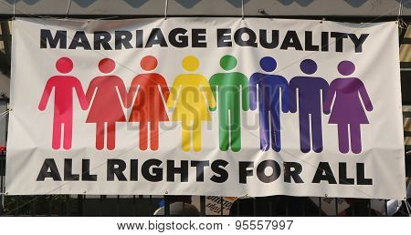 Marriage equality banner in Manhattan